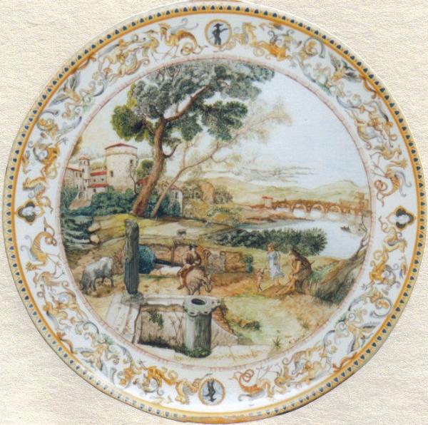 Campagna romana (piatto istoriato)