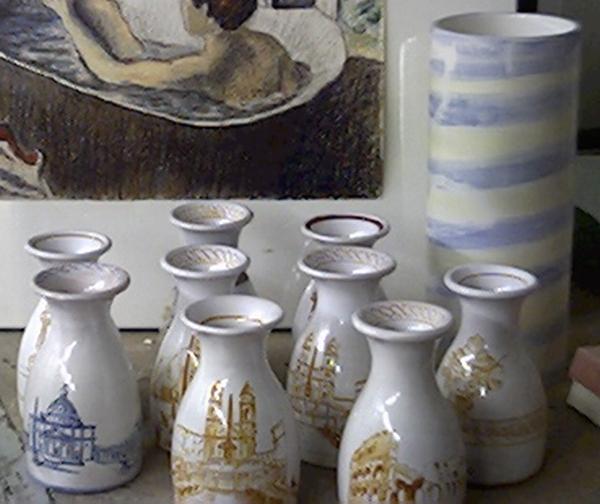 Serie completa di vasetti ispirati a Roma