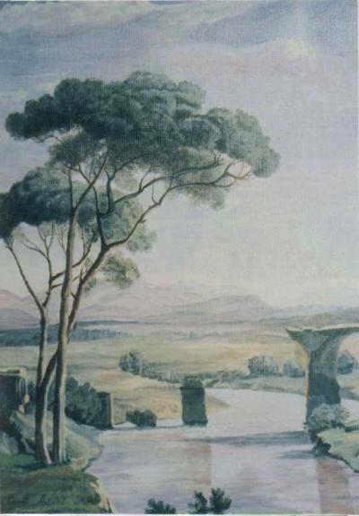 """Copia da Corot """"Il ponte romano di Narni"""""""