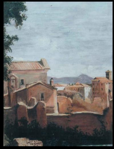 """Copia da Corot """"Veduta dal Palatino"""""""