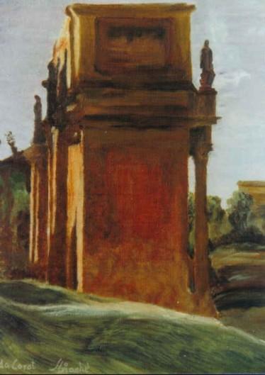 """Copia da Corot """"Arco di trionfo"""""""